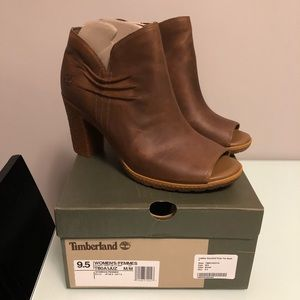 FINAL PRICE‼️ Timberland Leather Peep Toe Boots